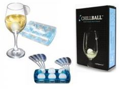 6 Pack of Chill Balls  $29.95  The Intelligent ice Chill balls are the perfect partner for wine. They look stylish in a wine glass, provides a long chill, doesnt dilute or effect flavour, safe reusable and hygienic.  Dishwasher safe.  Includes:  Compact and portable storage box 6 x re-freezable balls 4 x medium wineglass clips 4 x large wineglass clips