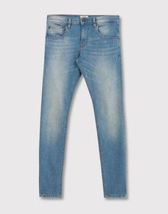 Pull&Bear - hombre - jeans - jeans superskinny fit light - azul - 05683541-I2016