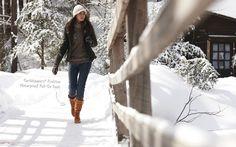 Winter look. Earthkeepers Rudston Waterproof boots from Timberland.