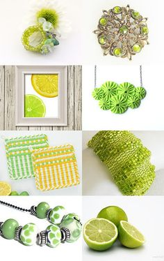 Lemon Lime by Ellen Segal-Smith on Etsy--Pinned with TreasuryPin.com