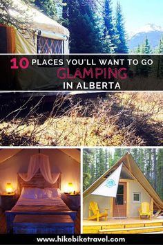 10 Places You'll Want to go Glamping in Alberta – North America travel - Travel Destinations Kayak Camping, Camping Places, Vacation Places, Places To Travel, Places To Go, Camping Tips, Backpacking Meals, Ultralight Backpacking, Hiking Tips