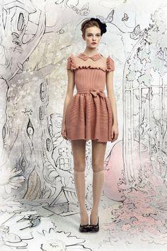 Pink Dress / Kneesocks