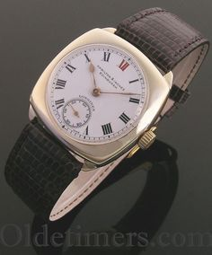 1930s 9ct gold cushion vintage Longines watch (3895)