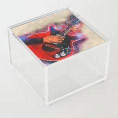 Brian May's guitar art, electric guitar, gift for guitarist, rock music art Acrylic Box by Abraham Szomor - 4 X 4 X 3 Guitar Painting, Guitar Art, Good Advice For Life, Brian May, Acrylic Box, Rock Music, Cool Artwork, Rock And Roll, Guitars