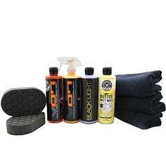 Chemical Guys HOL203 Black Car Care Kit (9 Items). For product info go to:  https://www.caraccessoriesonlinemarket.com/chemical-guys-hol203-black-car-care-kit-9-items/