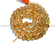 Citrine Smooth Round (Quality AA) / 5.5 to 6 mm / 36 cm / CI-324 by beadsogemstone on Etsy