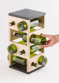 Geometric wine rack | Etsy