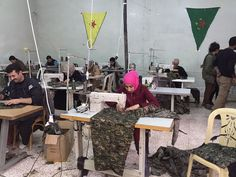 Rojava Sewing Cooperative - Autonomous Administration of North and East Syria - Wikipedia Gender Equity, The Kurds, Military Operations, Forced Labor, Political Party, Archaeological Site, Persecution, Private School, Syria