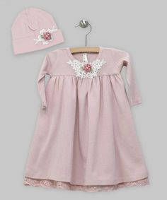 Another great find on #zulily! Rose Rosette Dress & Beanie - Infant #zulilyfinds