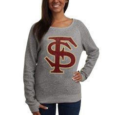 Florida State Seminoles (FSU) Ladies Knobi Fleece Sweatshirt - Gray jcpenney