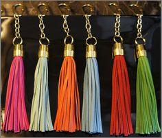Leather-Tassel-Keychains