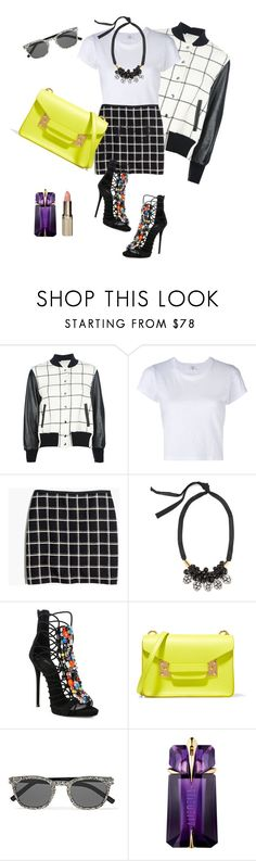 """""""Untitled #197"""" by ivanov1234491 ❤ liked on Polyvore featuring Sacai Luck, RE/DONE, Madewell, Marni, Giuseppe Zanotti, Sophie Hulme, Yves Saint Laurent, Thierry Mugler and L'Oréal Paris"""