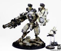 Tale of Painters: Showcase: Tau Riptide XV104 Battlesuit