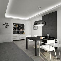 Черно-белый интерьер. Кухня Interior, Table, Furniture, Tiffany, Homes, Design, Home Decor, Google, Houses