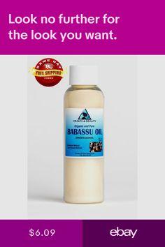 Massage Oils & Lotions Health & Beauty #ebay Babassu Oil, Massage Oil, Organic Oil, Lotions, Pure Products, Health, Ebay, Salud, Health Care