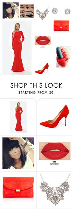 """""""Rosy"""" by expert-beauty ❤ liked on Polyvore featuring Manolo Blahnik, Smashbox and Mansur Gavriel"""