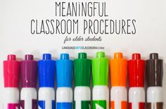 Week 3- Meaningful Classroom Procedures for Classroom Management in High School