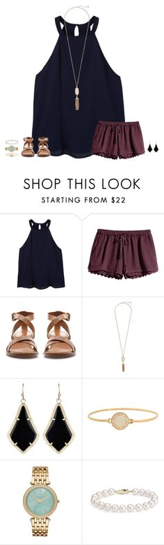 """I hate you I love you I hate that I love you"" by secfashion13 ❤ liked on Polyvore featuring MANGO, H&M, Zara, Kendra Scott, Marc by Marc Jacobs, Michael Kors and Blue Nile"