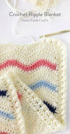 Free Pattern - Crochet Ripple Blanket