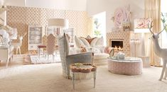 Take a look at our awesome pink baby room. Get more decorating ideas at http://www.CreativeBabyBedding.com