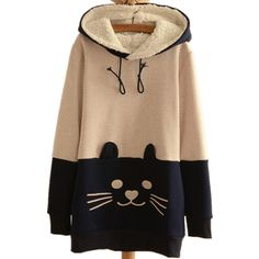 Cute Japanese Mori Kawaii Girl lolita Cat Face Tail Hoodies With Hat SweatShirts Hooded Hoodies woman Clothing one piece Vestido