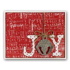Die-cut Bell Christmas Joy Card