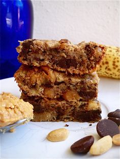 Peanut Butter, Banana, Chocolate Bars are gluten-free, grain-free, dairy-free, vegan, soy-free, and sugar-free!