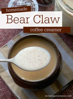 Homemade Bear Claw Coffee Creamer - pair with McCafé pods for a cup you'll want to wake up to! #McCafeMyWay
