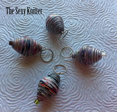 Lightweight Recycled Paper Bead Stitch Markers