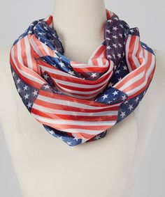 Look at this Red & Blue American Flag Infinity Scarf on #zulily today!  $9.99