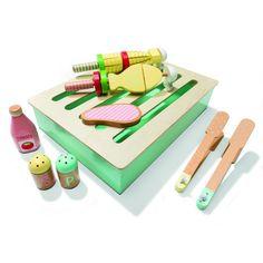 Wooden BBQ Play Set