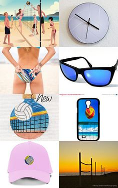 """☛http://www.etsy.com/shop/paroliro  ~ """"Beach Volleyball Comes to NYC this Weekend! Treasury features sporty fashions, accessories, vintage and handmade beach volleyball offerings from my talented fellow Etsians.  In honor of AVP.com Beach Volleyball top 32 women and men, including past and future Olympians, competing at Pier 25/Hudson River Park, NYC first ever tournament, 7/16-19/2015.  [Click on image to see all 16 items I chose!].☚  --Pinned with TreasuryPin.com"""