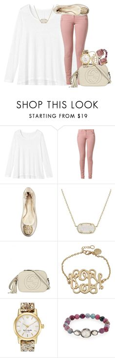 """dusty pink & sparkle /// emma"" by preppy-southern-gals ❤ liked on Polyvore featuring moda, Toast, Best Mountain, Tory Burch, Kendra Scott, Gucci, Kate Spade, Tai, women's clothing y women's fashion"