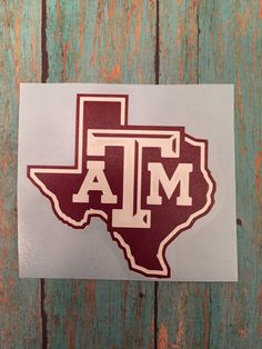 A personal favorite from my Etsy shop https://www.etsy.com/listing/266756873/texas-am-yeti-decal-aggies-maroon-pride