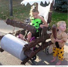 Epic wheelchair halloween costume, flinstones