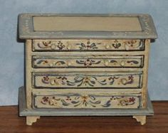 Scandanavian+Antiqued+Chest+of+Drawers+-+$65.00+:+Margie's+Petite+Palette,+Hand+Painted+Dollhouse+Miniature+Furniture+&+Accessories