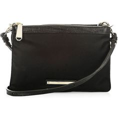 Brahmin Perri Bayview Crossbody (15.720 ISK) ❤ liked on Polyvore featuring bags, handbags, shoulder bags, black, crossbody purse, cross body, brahmin, crossbody handbags and nylon crossbody handbags