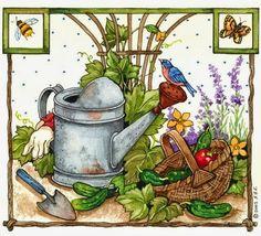 "Photo from album ""Живопись Sandi Gore Evans"" on Yandex. Decoupage Vintage, Art And Illustration, Evans Art, Arte Country, Country Paintings, Bird Drawings, Arte Floral, Tole Painting, Pics Art"