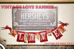 Valentines Vintage Love Banner