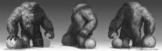 Abominable Snowman-Yeti by Davesrightmind on DeviantArt Creature Feature, Bigfoot, Snowman, Concept Art, Creatures, Happy Holidays, Deviantart, Painting, Conceptual Art