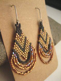Beadwork Earrings. Beaded Earrings. Native American by SoulLovin