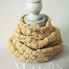 Instant download - Crochet PATTERN (pdf file) - Petal Infinity Scarf - Cowl