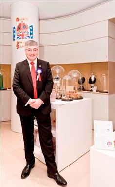 British Consul General and Director General UKTI Italy Vic Annells and British Jewellery stand