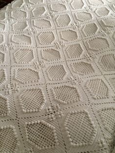 Beautiful bedcover hand crocheted