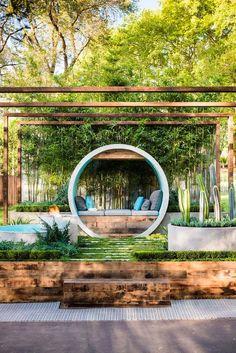 47 Most Amazing Pergola Design Ideas For Summer Living Urban Garden Design, Design Zen, Design Ideas, Modern Design, House Design, Garden Show, Dream Garden, Home And Garden, Garden Modern