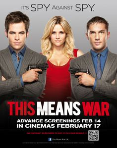 This Means War Movie (2012) Reese Witherspoon, Chris Pine, Tom Hardy