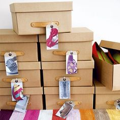 Snap pics of your shoes and hang tags on each shoe box.