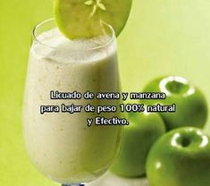 oats and green apple smoothie Healthy Juices, Healthy Smoothies, Healthy Drinks, Healthy Tips, Healthy Snacks, Healthy Recipes, Juice Smoothie, Smoothie Drinks, Detox Drinks