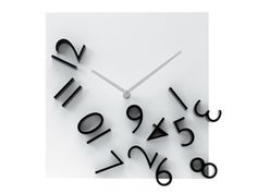 Karlsson - Products  Wall clock Falling Numbers black white dial  30 x 30 x 5cm, Excl. 1 AA battery, BOX32 Design  Item: KA5037