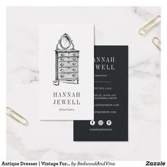 Special delivery gifting serviceevent planner business card antique dresser vintage furniture business card reheart Image collections
